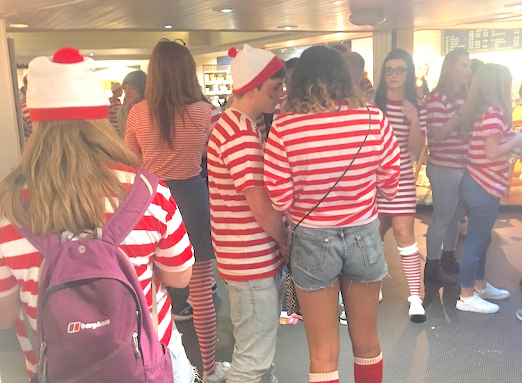 Waldos - Where's Wally student dress up!
