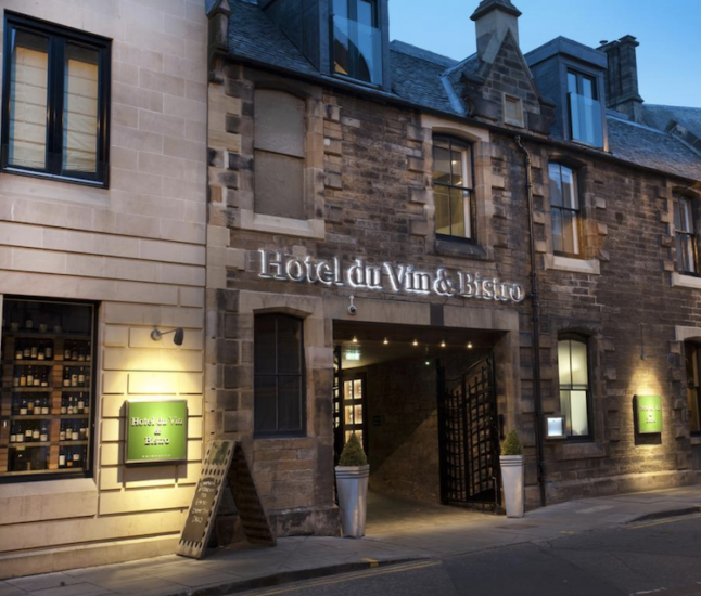 where to stay in Edinburgh Hotel Du Vin