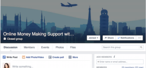 Online Money Making – Join my new Facebook Support Group