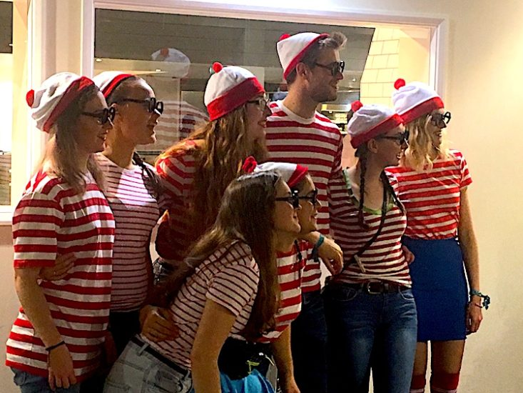 Where's Waldo? Students dressed as Waldos