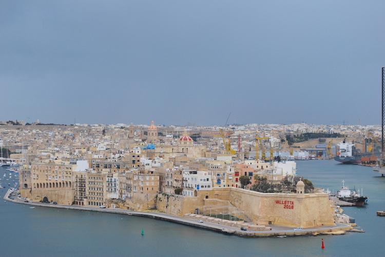 View from Upper Barakka Gardens Malta