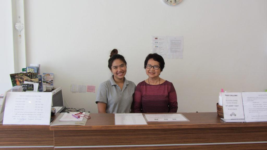 Staff at Connect hostel Chiang Rai