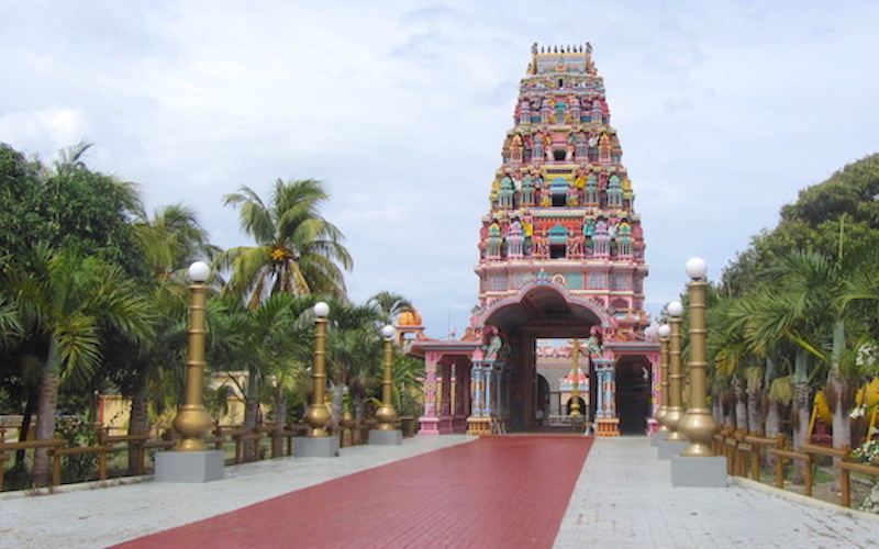 Sockalingum temple approach Mauritius