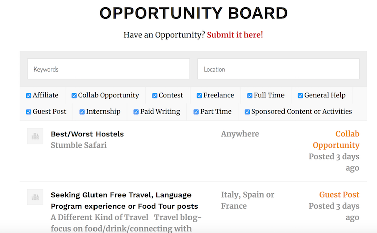 Superstar Blogging Opportunity Board