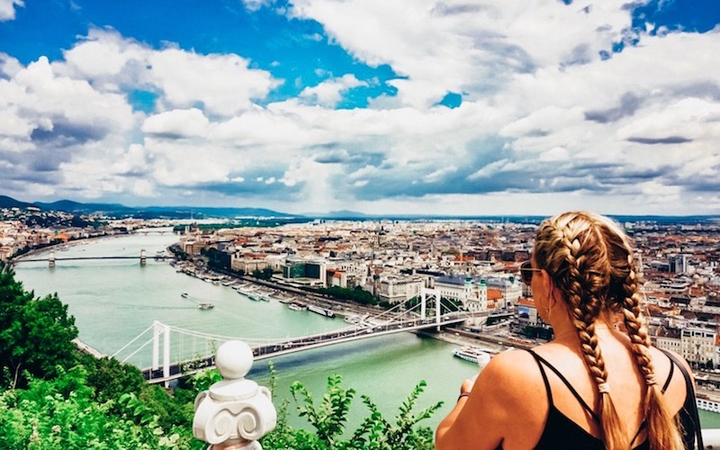 City scape River Danube Budapest